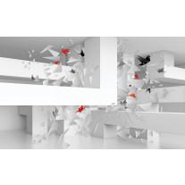 Fotobehang Papier 3D, Origami | Wit | 254x184cm