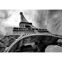Fotobehang Papier Eiffeltoren, Parijs | Grijs | 368x254cm