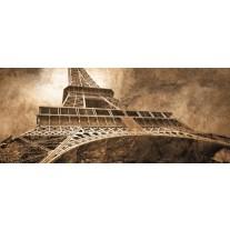 Fotobehang Eiffeltoren, Parijs | Sepia | 250x104cm