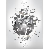 Fotobehang Papier Abstract, 3D | Grijs | 184x254cm