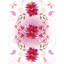 Fotobehang Papier Bloemen | Roze, Wit | 184x254cm