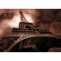 Fotobehang Papier Eiffeltoren, Parijs | Bruin | 254x184cm
