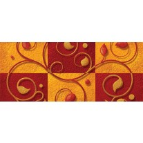 Fotobehang Modern | Oranje, Rood | 250x104cm