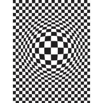 Fotobehang 3D | Zwart, Wit | 206x275cm