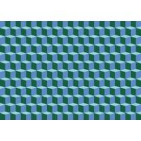 Fotobehang Papier 3D | Blauw, Groen | 254x184cm