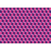 Fotobehang Papier 3D, Design | Roze | 254x184cm