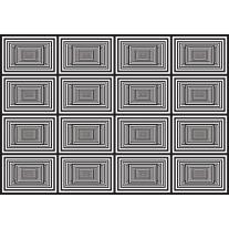 Fotobehang Papier Design | Zwart, Wit | 254x184cm