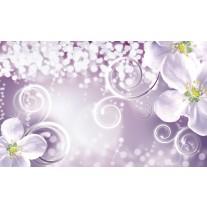 Fotobehang Papier Bloemen | Paars | 368x254cm