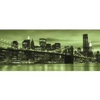 Fotobehang New York | Groen | 250x104cm
