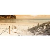 Fotobehang Strand, Zee | Crème | 250x104cm
