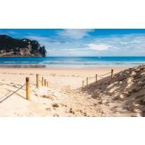 Fotobehang Papier Strand, Zee | Blauw | 254x184cm
