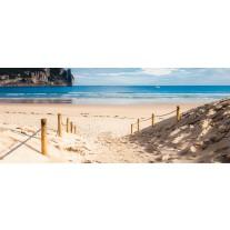Fotobehang Strand, Zee | Blauw | 250x104cm