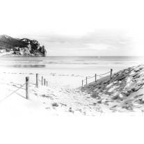 Fotobehang Papier Strand, Zee | Wit | 254x184cm