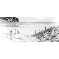 Fotobehang Strand, Zee | Wit | 250x104cm