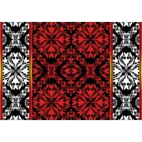 Fotobehang Papier Abstract | Rood, Zwart | 254x184cm
