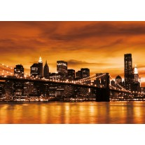 Fotobehang Papier New York | Oranje | 368x254cm