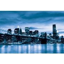 Fotobehang Papier New York | Blauw | 368x254cm