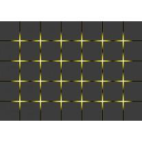 Fotobehang Design | Grijs, Geel | 152,5x104cm
