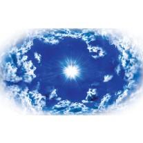 Fotobehang Papier Lucht, Wolken | Blauw | 368x254cm