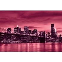 Fotobehang Papier New York | Roze | 254x184cm