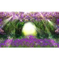 Fotobehang Papier Natuur | Groen, Paars | 254x184cm