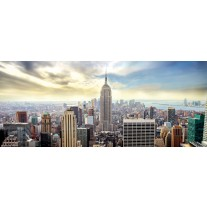 Fotobehang Skyline, Stad | Grijs | 250x104cm