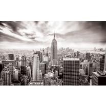 Fotobehang Papier Skyline, Stad | Grijs | 254x184cm