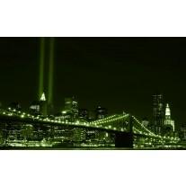 Fotobehang Papier New York | Groen | 254x184cm