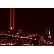 Fotobehang Papier New York | Bruin | 254x184cm