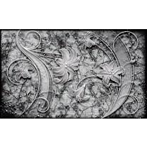 Fotobehang Papier Muur, Bloemen | Grijs | 254x184cm