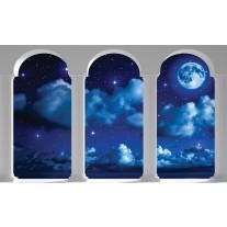 Fotobehang Papier Nacht, Modern | Blauw | 254x184cm