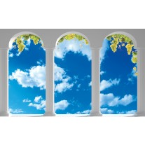 Fotobehang Papier Natuur, Lucht | Blauw | 254x184cm