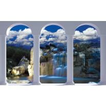 Fotobehang Papier Natuur, Waterval | Blauw | 368x254cm