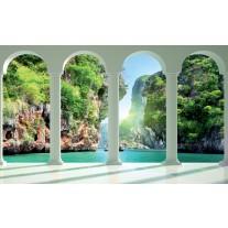 Fotobehang Papier Natuur, Water | Groen | 254x184cm