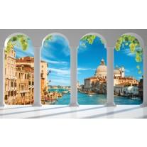 Fotobehang Papier Venetië, Stad | Blauw | 254x184cm