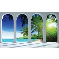 Fotobehang Papier Strand, Zee | Blauw | 368x254cm