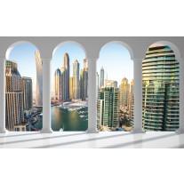 Fotobehang Papier Skyline, Modern | Wit | 368x254cm
