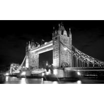 Fotobehang Papier London, Brug | Zwart | 254x184cm
