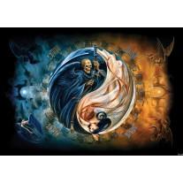 Fotobehang Papier Alchemy Gothic | Blauw | 368x254cm
