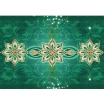 Fotobehang Papier Modern | Groen | 254x184cm