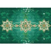 Fotobehang Papier Modern | Groen | 368x254cm