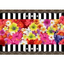 Fotobehang Papier Bloemen, Kleurrijk | Rood | 254x184cm