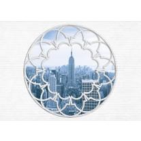 Fotobehang Papier Muur, Skyline | Grijs | 254x184cm