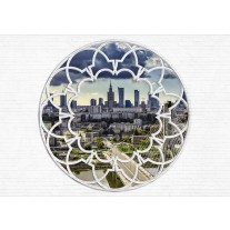 Fotobehang Papier Modern, Skyline | Wit | 254x184cm