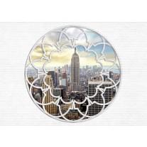Fotobehang Papier Modern, Skyline | Grijs | 368x254cm