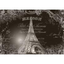 Fotobehang Papier Eiffeltoren, Parijs | Sepia | 368x254cm