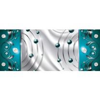 Fotobehang Modern | Zilver, Turquoise | 250x104cm
