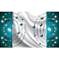 Fotobehang Papier Modern | Zilver, Turquoise | 368x254cm