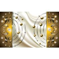 Fotobehang Modern | Goud, Crème | 152,5x104cm