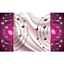 Fotobehang Papier Modern, Slaapkamer | Roze, Zilver | 254x184cm